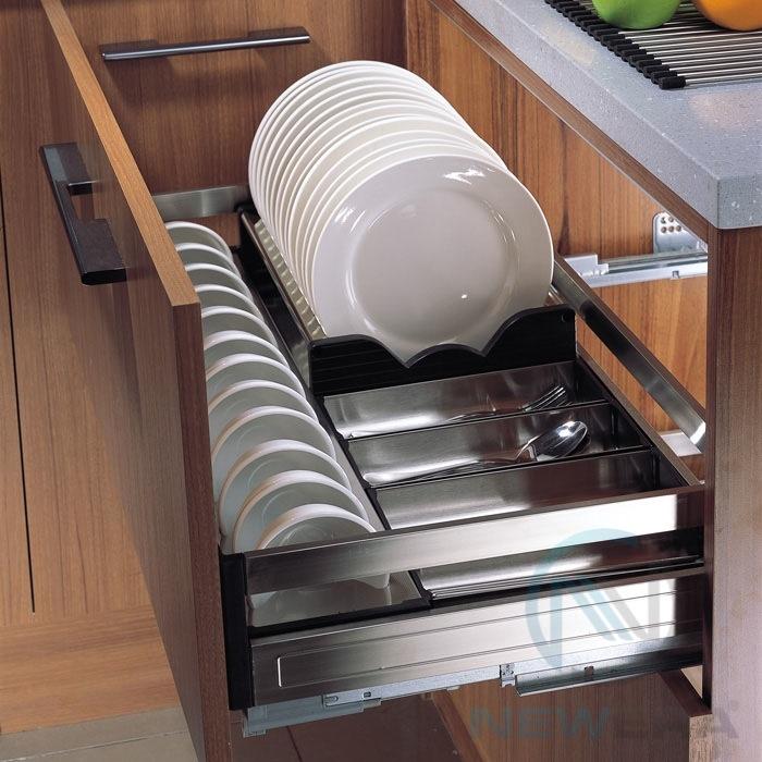 Ngăn kéo úp bát đĩa tủ bếp dưới
