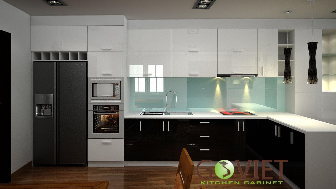 Tủ bếp gỗ bằng Laminate