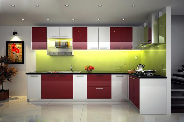 Mẫu tủ bếp đẹp hiện đại 4