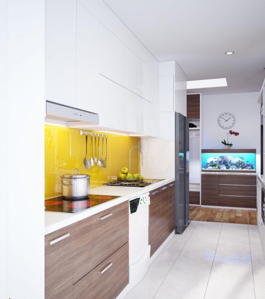 tủ bếp acrylic hiện đại 4