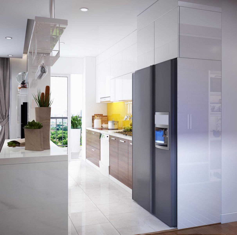 tủ bếp acrylic hiện đại 3
