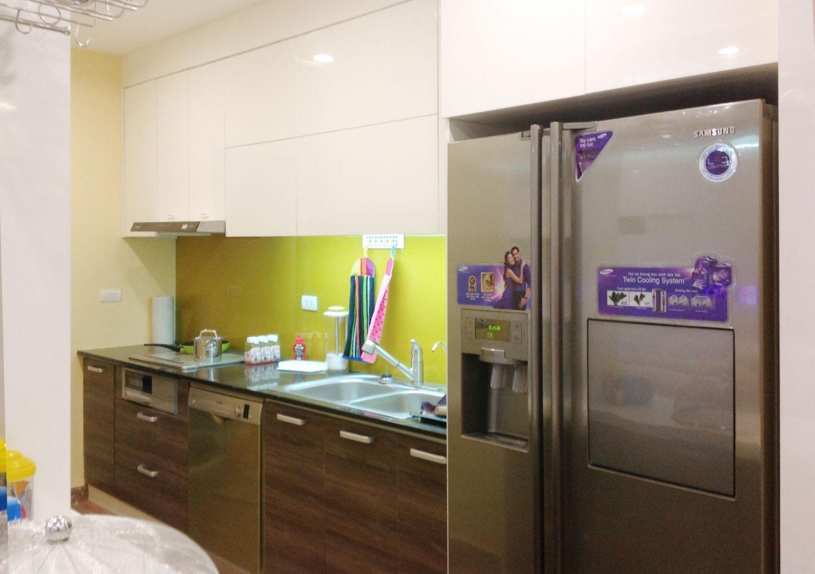 tủ bếp acrylic hiện đại 2