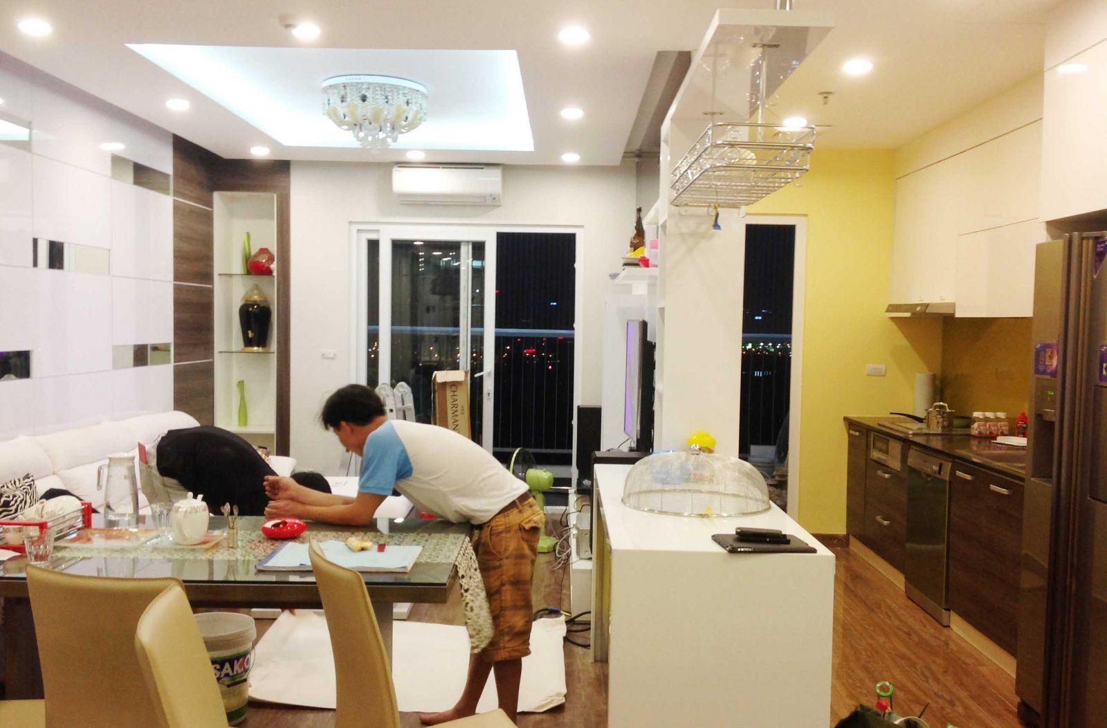 tủ bếp acrylic hiện đại 1