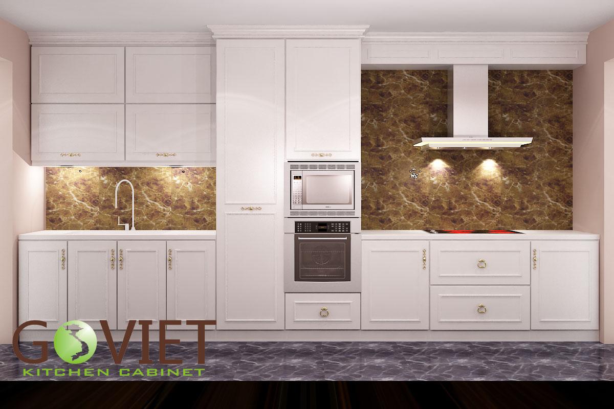 tủ bếp đẹp màu trắng