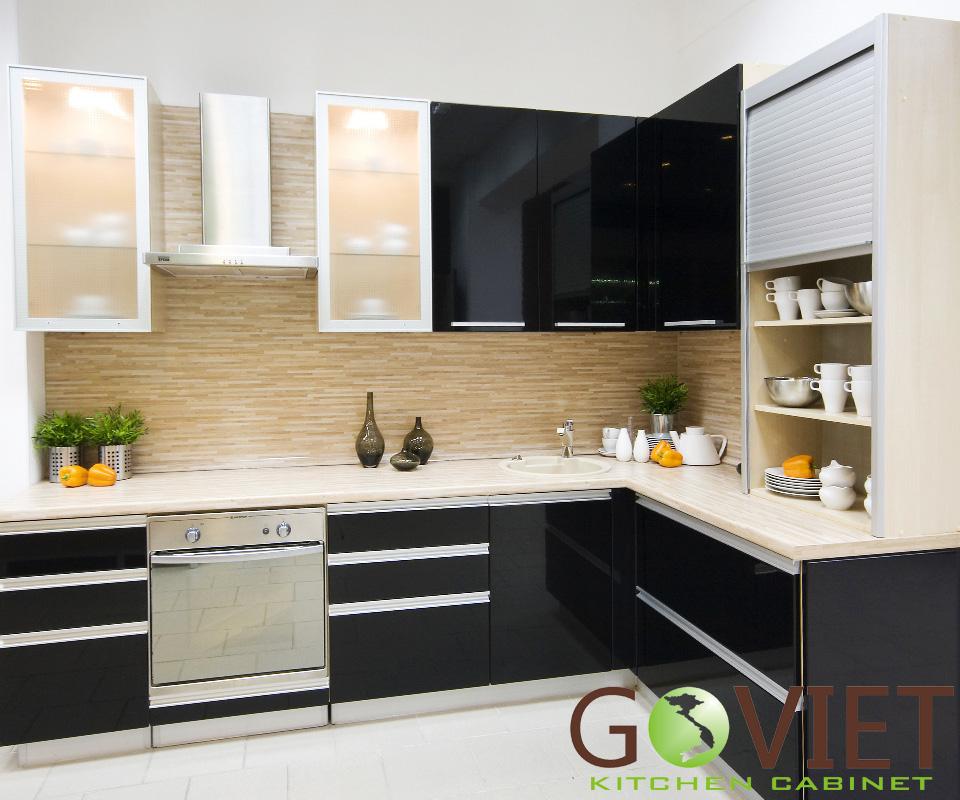 Tủ bếp gỗ công nghiệp Acrylic A3