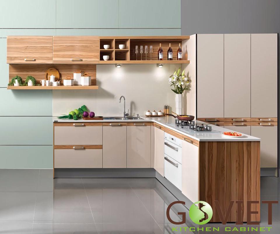Tủ bếp gỗ công nghiệp MFC M2