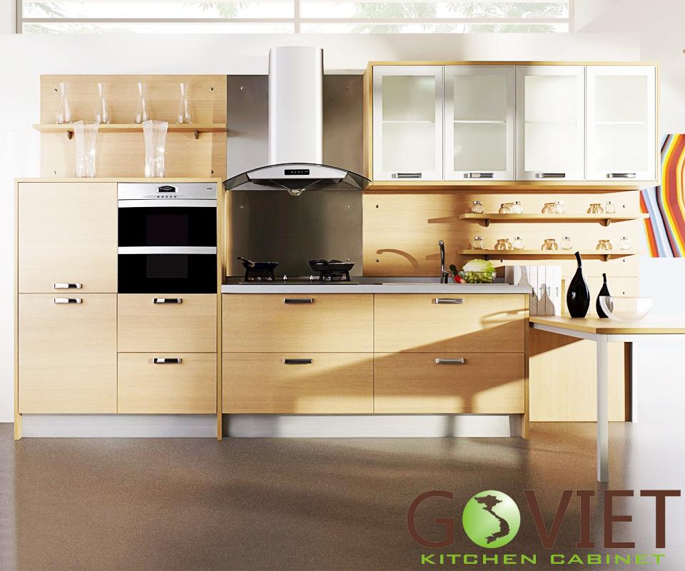 Tủ bếp gỗ veneer V2