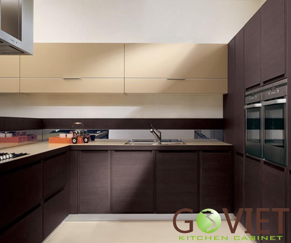 Tủ bếp gỗ veneer V34