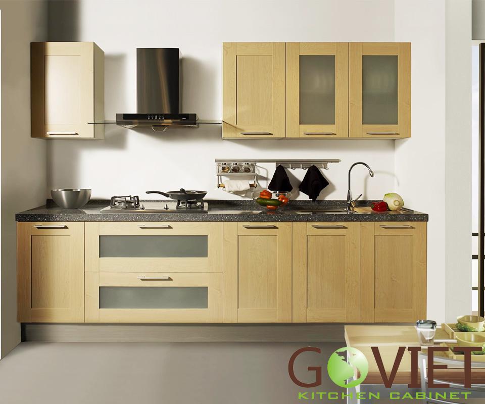 Tủ bếp gỗ chữ I Veneer Sồi TBGV -1101