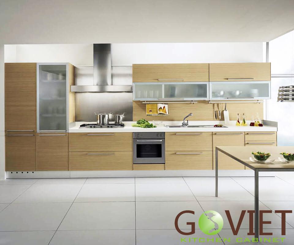 Tủ bếp gỗ dạng chữ I GVI3