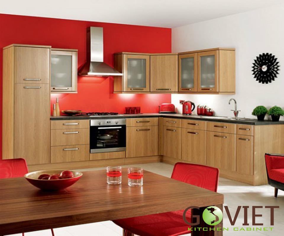 Tủ bếp gỗ tự nhiên sồi T11