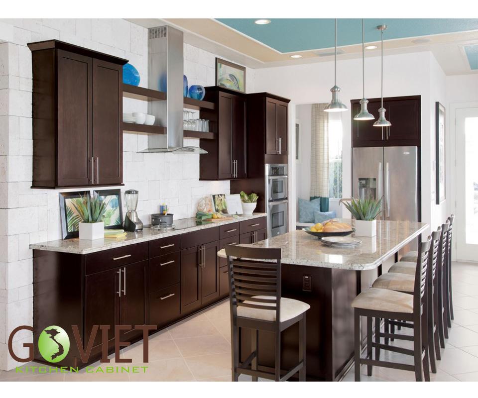 Tủ bếp gỗ tự nhiên sồi T12