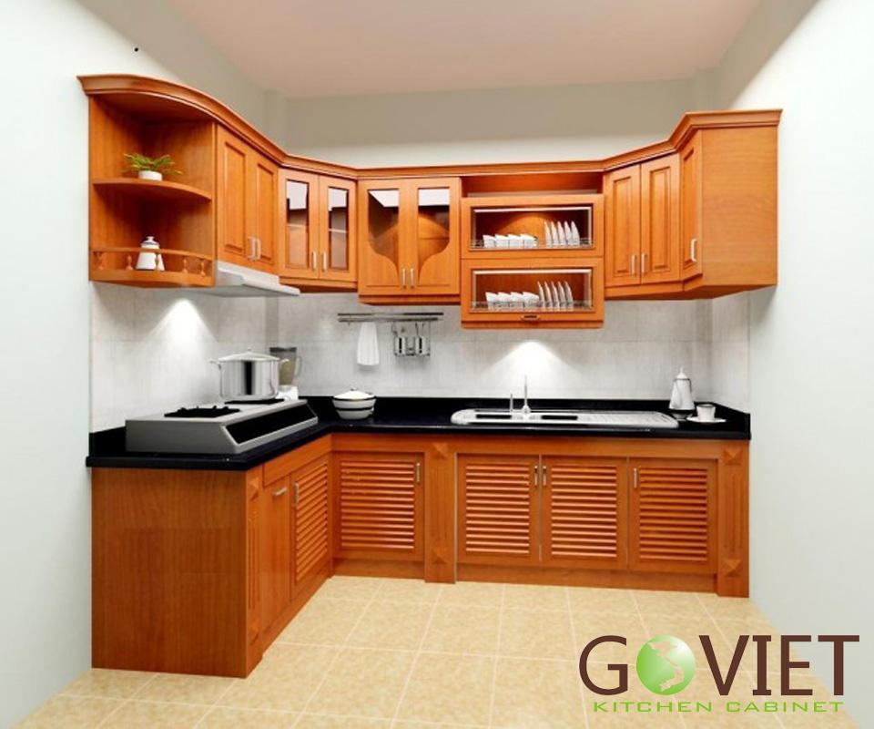 Tủ bếp gỗ tự nhiên sồi T15