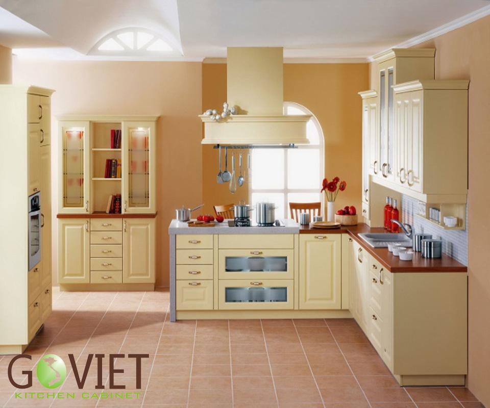 Tủ bếp gỗ tự nhiên sồi T16