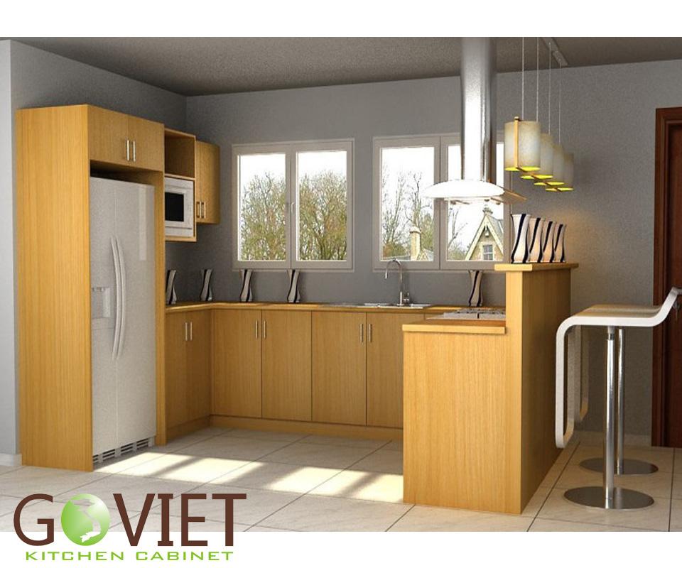 Tủ bếp gỗ tự nhiên sồi T17