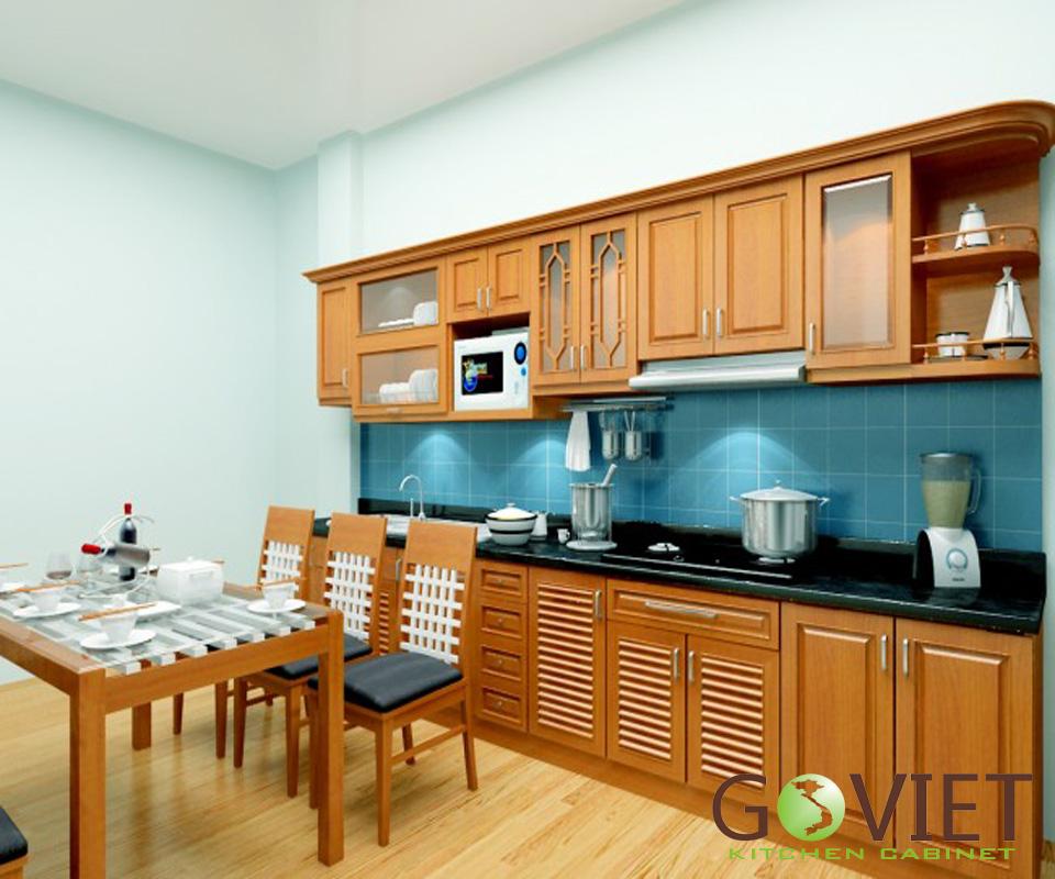 Tủ bếp gỗ tự nhiên sồi T18