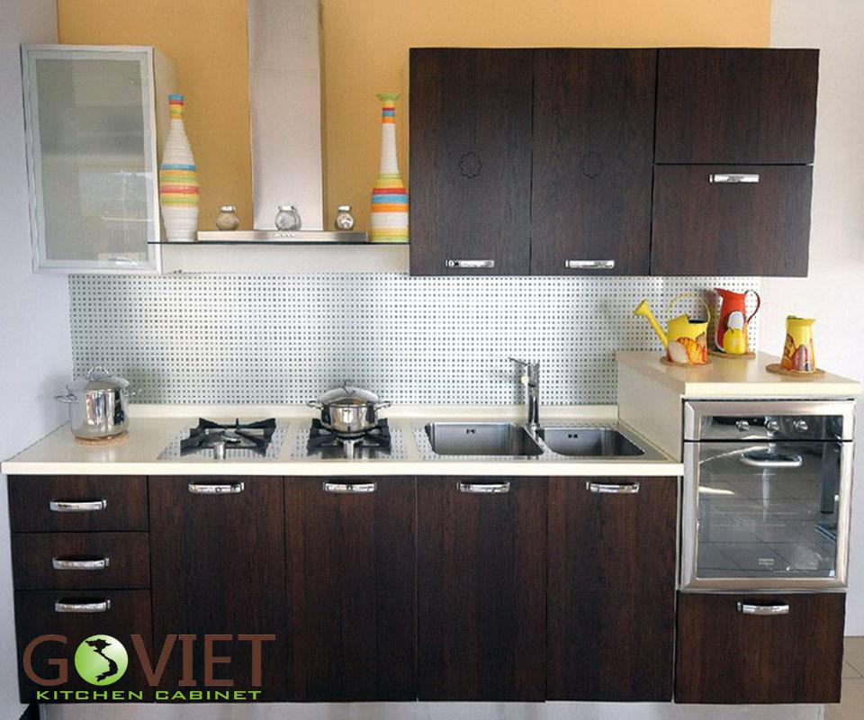 Tủ bếp gỗ tự nhiên sồi T21