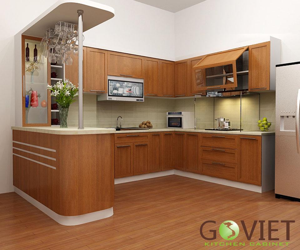 Tủ bếp gỗ tự nhiên sồi T25