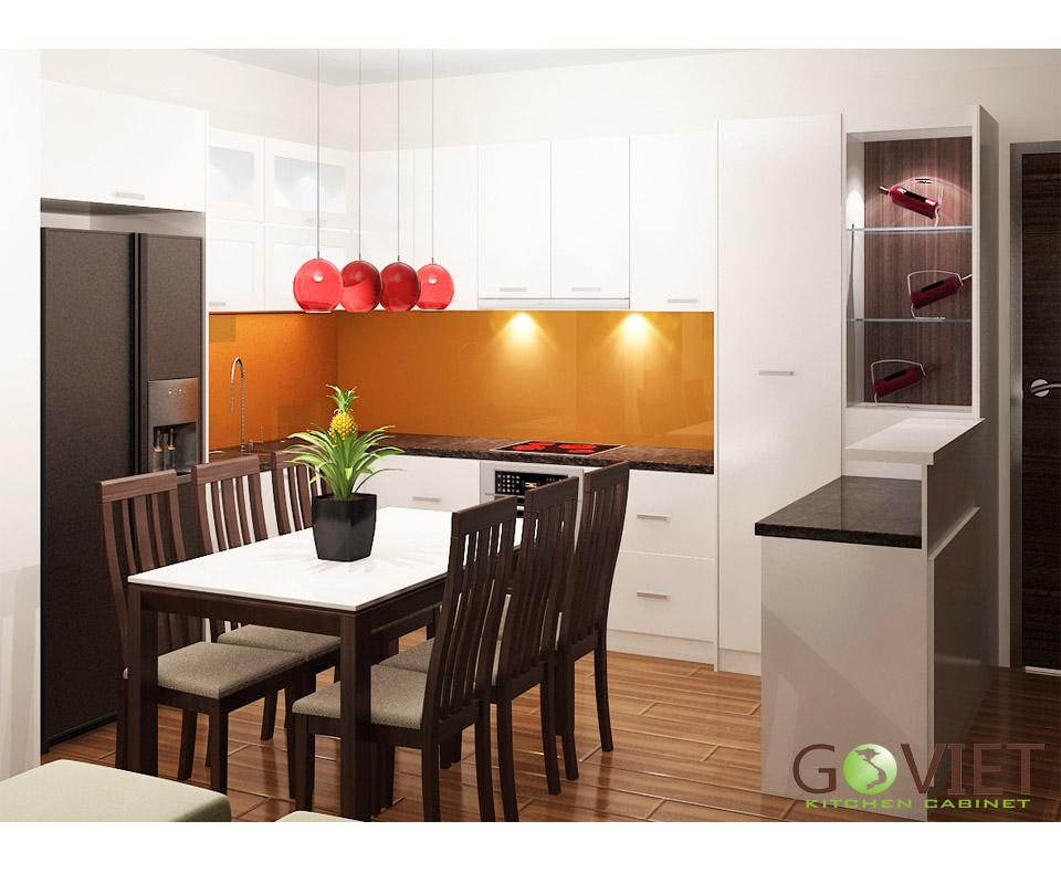 Tủ bếp dạng chữ L GVL004