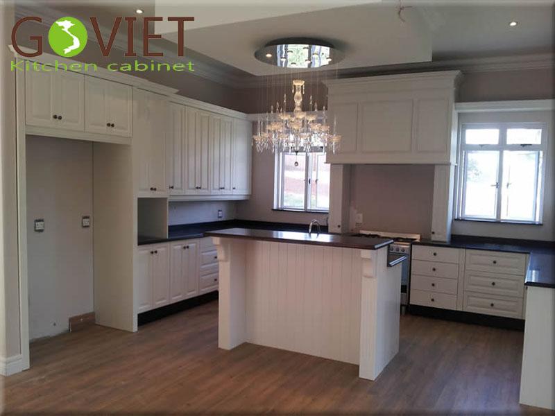 Tủ bếp MDF sơn trắng