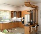 Tủ bếp gỗ tự nhiên sồi T23