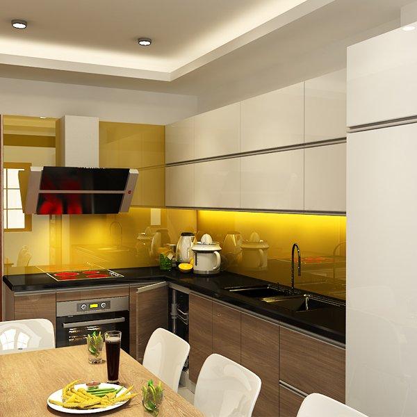 Tủ bếp Acrylic nhà anh Dũng Duy Tân