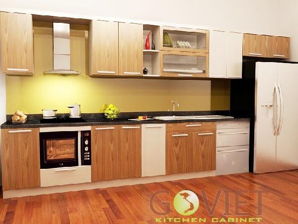 Tủ bếp chữ i dài 3m TBGV-1118